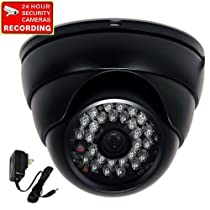 "VideoSecu Day Night Outdoor Security Camera Infrared Weatherproof 1/3"" Sony Super HAD CCD 28 IR Leds CCTV DVR Surveillance with Power Supply 1NS"