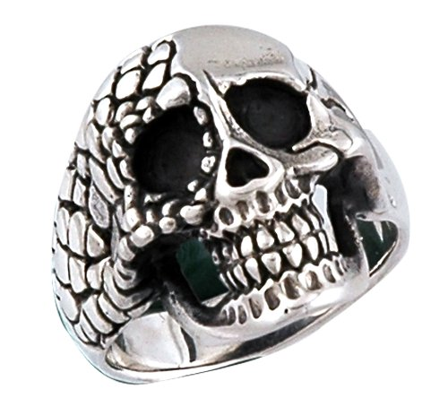 Stainless Steel Skull Ring Broken Face (Available in Sizes 10 to 14) size 10