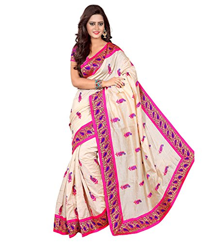 Yashoda Textile Pink Color Chanderi Silk Embrodired Sarees With Un-Stitched Blouse Piece (1y.s_528_Pink)