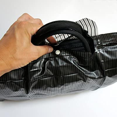 防水バッグカバー ストライプ ブラック 日本製