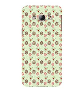 iFasho Animated Pattern design many small flowers Back Case Cover for Samsung Galaxy A8