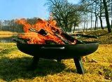 Feuerschale aus Stahl 650 mm / mit 3 Beinen und 2 Griffen + gratis Kaminholz