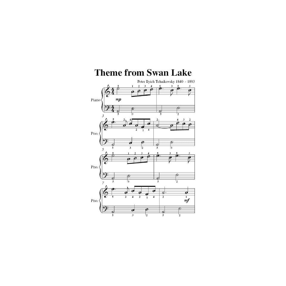 Swan Lake Theme Tchaikovsky Easiest Piano Sheet Music on