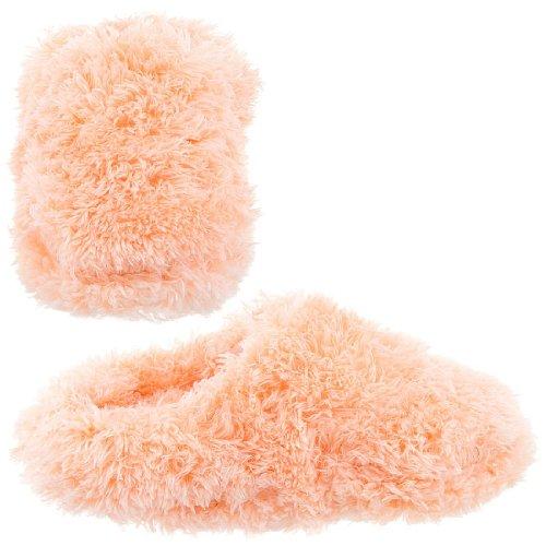 Cheap Peach Fuzzy Slippers for Women (B004Z25AGI)
