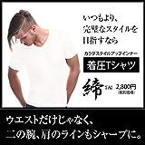 締-TAI-(タイ)シャツ 着圧Tシャツ 白ホワイト (L)