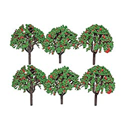 Asianhobbycrafts Colorful Plastic Mini Artificial Craft Garden Decoration Trees DIY : 6 Pcs : 2.5