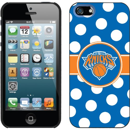 Best Price New York Knicks - Polka Dots design on a Black iPhone 5s / 5 Thinshield Snap-On Case by Coveroo