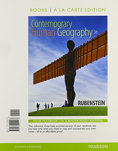 Contemporary Human Geography, Books a la Carte Plus MasteringGeography with eText -- Access Card Package (3rd Edition)