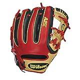 Wilson A2K DatDude Brandon Phillips Infield Baseball Glove, Blonde/Black/Red, Right Hand Throw, 11.5-Inch, 11.5 inches/Blonde/Black/Red