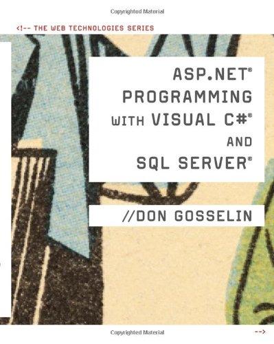 ASP .NET Programming with C# & SQL Server (Web...