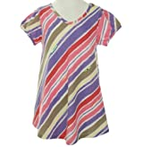 DKNY V-Neck Striped Shirt