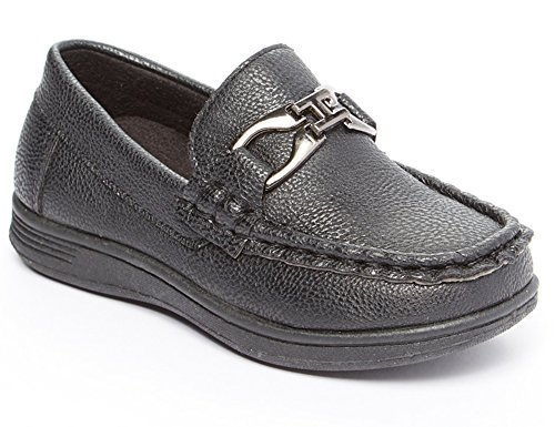 Boys Dress Loafer Driving Deck Shoe (Toddler/Little Kid/Big Kid) black 2