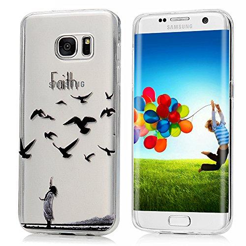 Samsung Galaxy S7 edge Custodia Pelle Case Cover in TPU pelle, YOKIRIN Dipinto Protettiva Portafoglio Flip Cover Protettivo Copertura -Asuka