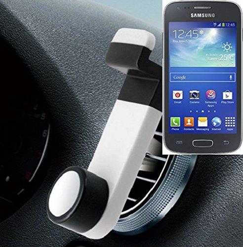 Universell einsetzbare Smartphone Halterung / Autohalterung / Lüftungshalterung für das Samsung Galaxy Ace 4. Weiß. Handy Halter für das Lüftungsgitter verwendbar mit Smartphones und Tablets von 5,2 cm - 9,4 cm Breite. Smartphonehalterung Handyhalterung Autohalterung Lüftung Lüftungsgitter Air Vent mount Halterung Lüftungsschlitz, Versand aus Deutschland innerhalb eines Werktages