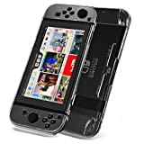 Nintendo Switch Case, Switch Cover, Nintendo Switch Tempered Glass Screen Protector, Set combination, Crystal Clear Easy to Install and Take off, Highly Flexibility hardness Material, Against Bumps