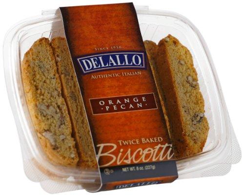 DeLallo Pecan Biscotti, Orange, 7-Ounce (Pack of 4)