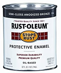 Rust-Oleum 7754502 Protective Enamel Paint Stops Rust, 32-Ounce, Anodized Bronze - 2 Pack