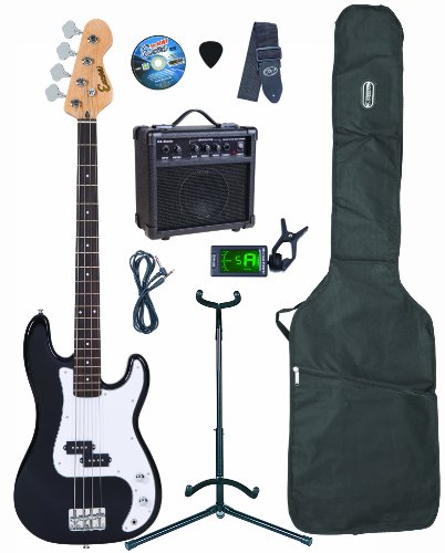 Encore EBP-PK40BOFT Black Electric Bass Guitar Outfit