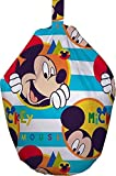 Kids Disney Mickey Mouse Boo Cotton Cover Feature Bean Bag Multi Coloured