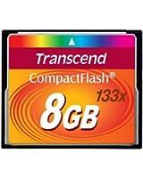 Transcend 8 Go Carte mémoire CompactFlash (CF) 133x TS8GCF133