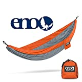 Eagles Nest Outfitters ENO SingleNest Hammock, Portable Hammock for One, Orange/Grey