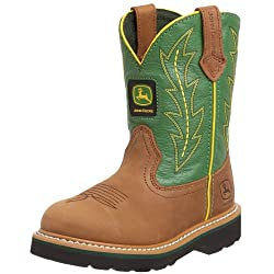 John Deere 2186 Western Boot (Toddler/Little Kid),Tan/Green,10.5 M US Little Kid