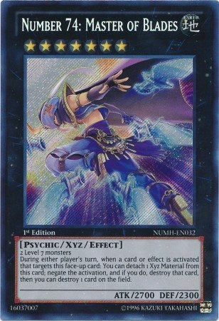 Yu-Gi-Oh! - Number 74: Master of Blades (NUMH-EN032) - Number Hunters - 1st Edition - Secret Rare (Yugioh Cards Master compare prices)
