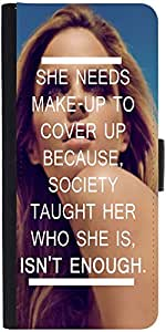 Snoogg She Is Isnt Enough Graphic Snap On Hard Back Leather + Pc Flip Cover L...