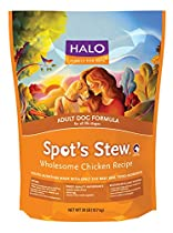 Halo Spot's Stew Holistic Dry Dog Food, Wholesome Chicken, 28 LB Bag of Natural Dog Food