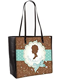 Mothers Day Card Cute Vintage Frames With Ladies Silhouettes Obo, Shoulder Bag Tote Faux Leather Handbag Satchel...
