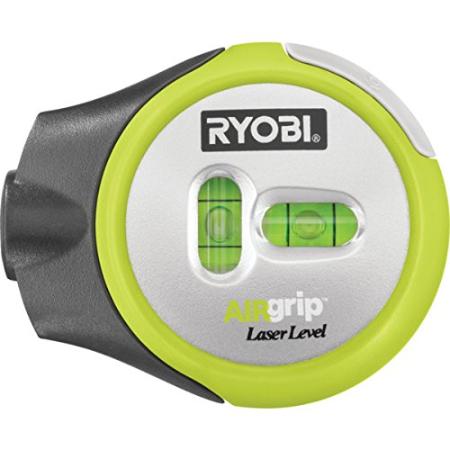 Ryobi Compact AIRgrip Laser Level With AIRgrip Vacuum Base - Up To 30' Horizontal Or Vertical Laser Line - Accuracy To 1/2