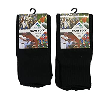 Augusta Drop Ship Youth Game Socks - BLACK - OS