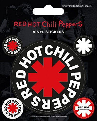 Red Hot Chili Peppers - Logo, Vinyl Sticker Set Sticker Adesivo (12 x 10cm)