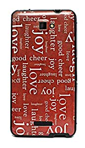 ECellStreet ™ Exclusive Printed Soft Back Case Cover Back Cover ForPanasonic Eluga S - Joy Love