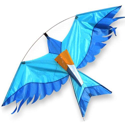 azul-pajaro-cometa-viene-con-un-libre-linea-rig-gran-para-volar-de-un-mastil-para-bandera-de-telesco