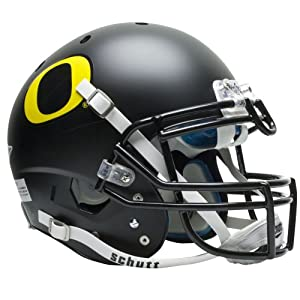 NCAA Oregon Ducks Authentic XP Football Helmet, Matte Black by Schutt