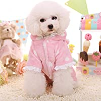 PetsLove Pet Hoodie Jumpsuit Dog Clothes Cat Plush Romper Jacket Coat Apparel Outwear for Winter