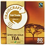 Traidcraft Fairtrade African Gold 80 Teabags (Pack of 6, Total 480 Teabags)