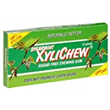 XyliChew Sugar Free Chewing Gum, Spearmint, 12-Count Packages (Pack of 24) ~ Xylichew