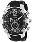 Viceroy Men's 47633-15 Stainless-steel Chronograph Black Rubber Watch