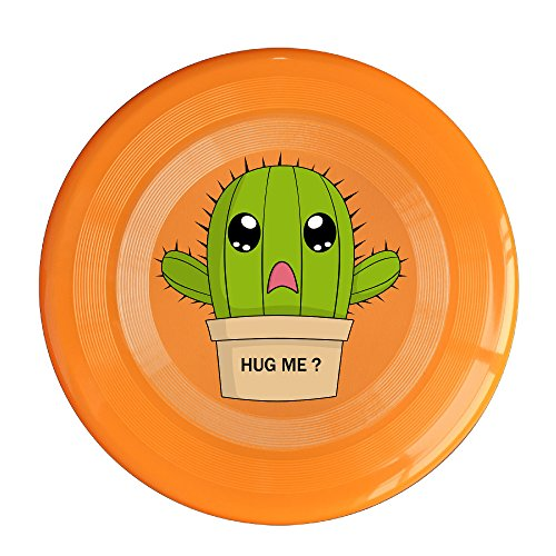 XJBD Unisex Hug Cactus Outdoor Game, Sport, Flying Discs,Game Room, Light Up Flying, Sport Disc ,Flyer Frisbee,Ultra Star Orange One