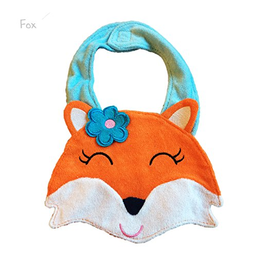 Lil' Oopsies Bibs for Toddlers - Premium Quality, 3 Layered Absorbent & Waterproof Teething, Feeding & Drooling Bibs. Unique Baby Shower Gift for Girls. Suitable for Husky Babies to Toddlers. Fox