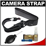 Joby UltraFit Sling Camera Strap for Men (Charcoal) with Nikon Cleaning Kit for Nikon 1 V1, J1, J2, D3100, D5100, D7000, D600, D800, D4