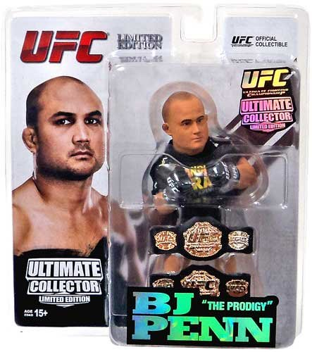 Round 5 UFC Ultimate Collector Series 12 LIMITED EDITION Action Figure BJ Penn [Includes 2 Championship Belts!]