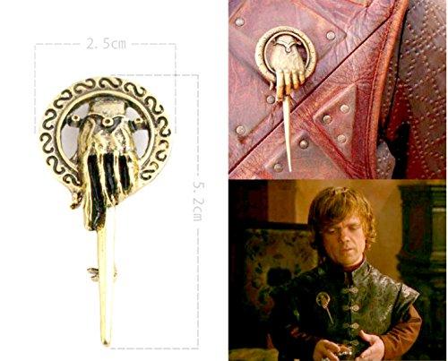acquistare qualsiasi 2e ottenere 1gratis. Game Of Thrones Spilla a mano al Re Tywin Lannister Got Drago Steampunk singolo Ice Fire Lapel e metallo Stark Argento Replica unico gioielli argento o oro doppio vintage Hot Fashion Trend