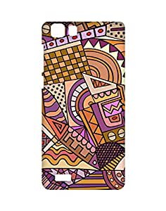 Garmor Retro Brown Designer Plastic Back Cover For Vivo Y27