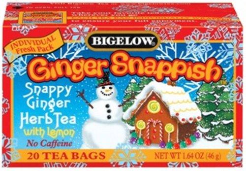 Buy Bigelow Ginger Snappish Herbal Tea, 1.64 Ounce Boxes (Pack of 6) (Bigelow, Health & Personal Care, Products, Food & Snacks, Beverages, Tea, Herbal Teas)