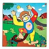 Skillofun Skillofun Theme Puzzle Standard Monkey Knobs Multi Color