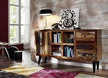 Muebles de madera maciza Vintage lacado madera maciza muebles TV-board macizo Sixties #101