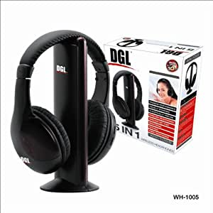 zenex dgl wh1005 wireless headphones electronics. Black Bedroom Furniture Sets. Home Design Ideas